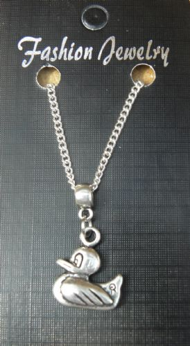 "18"" 24"" Inch Chain Necklace & Duck Pendant Charm Anatidae Gift Souvenir - New"